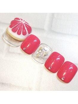 ライト ネイルズ ニシノミヤ(light nails NISHINOMIYA)/フットネイル☆¥9130