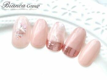 ビアンカ 市ヶ谷店(Bianca)/トレンド☆彡ピンクミラーネイル