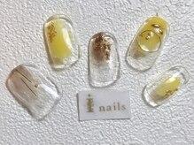 アイネイルズ 梅田店(I nails)/塗りかけイエロー