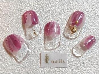 アイネイルズ 梅田店(I nails)/塗りかけニュアンス