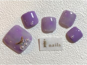アイネイルズ 梅田店(I nails)/シンプルニュアンスフット
