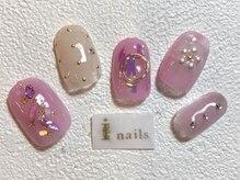 アイネイルズ 梅田店(I nails)/オーロラガーリーネイル