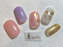 アイネイルズ 梅田店(I nails)/ワイヤーフラワーネイル