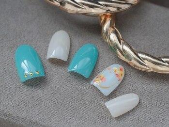 ネイル ジー(Nail g)/押し花 シンプルコース