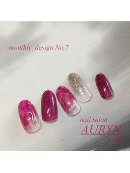 アウリン(AURYN)/1月 monthly design No,7
