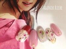 アグニークリッシェ(Agunik Riche)/【押し花ネイル】
