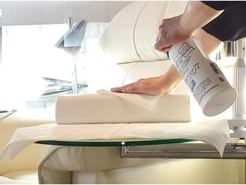 ネイルサロンブラン(nail salon BLANC)/店内の衛生管理