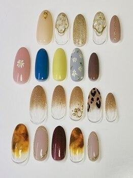 アンベリィ ネイル(embellie nail)の写真/【パーツもカラーも豊富】手描きアートが得意なスタッフによる繊細なデザインで季節を先取り☆イベントに◎