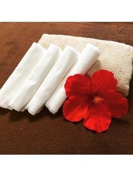 プメハナ/使い捨てタオルで清潔