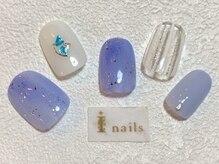 アイネイルズ 梅田店(I nails)/くすみブルー