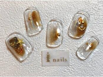 アイネイルズ 梅田店(I nails)/塗りかけユニコーン