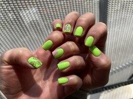 【nail】neon flower
