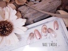 ネイルズ モダ(NAIL'S MODA)/3月定額デザイン/ニュアンスnail
