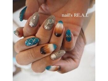 ネイルズリアル(nail's REAL)/ターコイズ