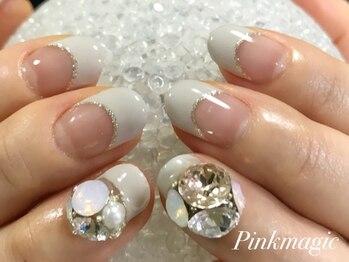 ピンクマジック(PINKMAGIC)/爪いっぱいスワロビジュー