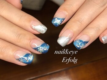 ネイルサロン エアフォルク 銀座(Erfolg)/輝く冬の雪の結晶ネイル!