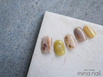 ミーナネイル(mina nail)/DESIGN FREE90min 10,200円