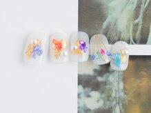 ゆびノさき/綺麗めお花ネイル