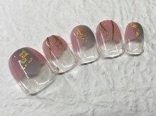 ネイルアンドアイラッシュ ブレス エスパル山形本店(BLESS)/塗りかけネイル