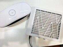 集塵機と紫外線消毒器使用。お客様の健康を守ります。
