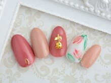 ピーチ(Peach)/お花ネイル