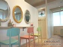 ショコラ アイラッシュ(Chocolat eyelash)の雰囲気(フレンチアンティークの可愛い店内は女性に優しい半個室空間☆)