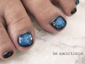 ネイルサロンアンドスクール ビーアンビシャス(be ambitious)/夜空のような