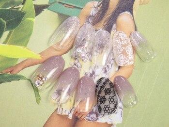 ネイルサロン キャンディネイル(Candy Nail)/お花シール ¥5400by神田