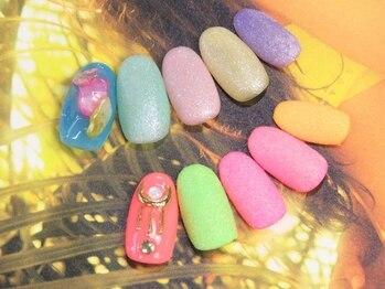 ネイルサロン キャンディネイル(Candy Nail)/シュガーネイル ¥5400by星