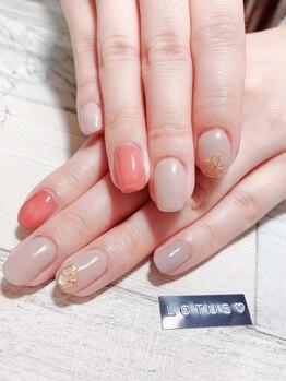 ロータス ネイル(Lotus Nail)/シェルグラスでシンプルネイル☆