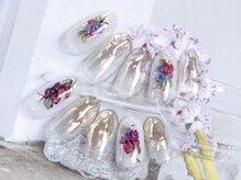 ネイルサロン キャンディネイル(Candy Nail)/フラワーネイル¥6480by横山