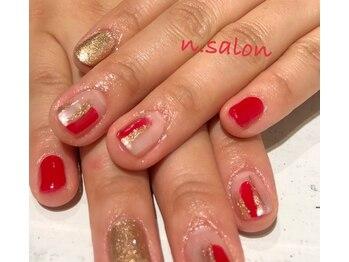 エヌサロン(n.salon)/定額デザイン お正月ネイル
