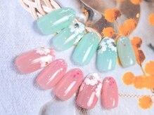 ネイルサロン キャンディネイル(Candy Nail)/お花ネイル¥6480by石塚