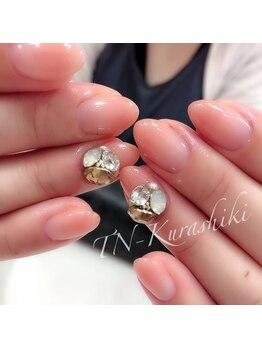 ティーエヌ 倉敷店/Handカラーグラデ+3Dパーツ