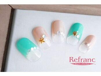 ルフラン 武蔵境店(Refranc)/ヒトデやシェルで夏ネイル☆