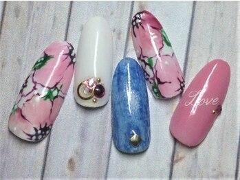 ホームネイルサロン 戸田 ミハ フルーラ(Home Nail Salon Mija Flura)/ラグジュアリー ¥7980 T137L