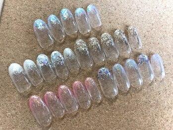 ネイルサロン ビビッド(Nail Salon ViViD)の写真/《ご新規様限定!ラメグラ¥3980》200種類以上のラメから選べる!あなたの指先を美しく仕上げます!