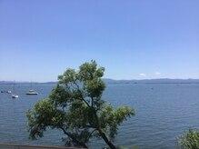 ジービューティーフィットネス(G.Beauty Fitness)の雰囲気(目の前は琵琶湖が一面!開放感バツグンです!)
