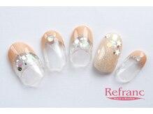 ルフラン 武蔵境店(Refranc)/キラキラベージュネイル☆