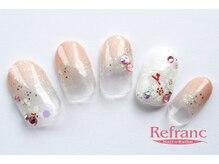 ルフラン 武蔵境店(Refranc)/大人シンプルな桜ネイル!