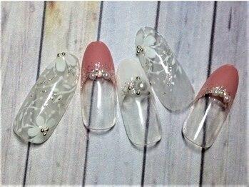 ホームネイルサロン 戸田 ミハ フルーラ(Home Nail Salon Mija Flura)/ラグジュアリー ¥7980 T124L