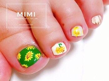 ミミ(MIMI)/フットネイル ひまわり