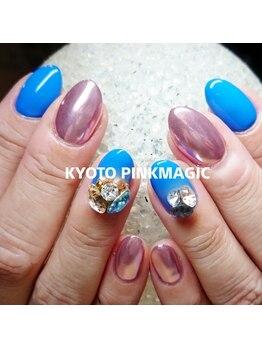 ピンクマジック(PINKMAGIC)/ミラーネイル×ビジュー
