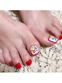 プライベートサロンアリュール(Private Salon Allure)/お花の刺繍ネイル♪