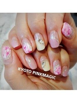 ピンクマジック(PINKMAGIC)/マーブルネイル