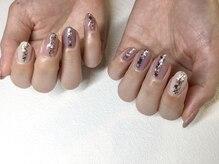 ネイルサロンブラン(nail salon BLANC)/ホログラムのニュアンスネイル