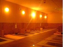 ホッと温浴 岩盤浴 グーチョキパー 郡山店の雰囲気(少し熱めの温度で一定に保ってあり、じんわり汗がかけます)