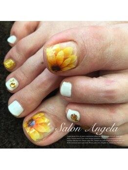 サロン アンジェラ(Salon Angela)/手描き向日葵
