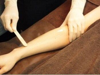 プリーレ(Pulire)/腕のワックス脱毛 施術 その1