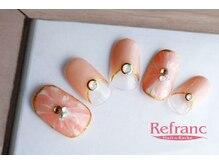 ルフラン 武蔵境店(Refranc)/変形マーブルで華やかな指先に♪